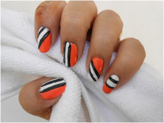 How To Do Nail Art At Home Pinterest Scotch Tape Hard Nails