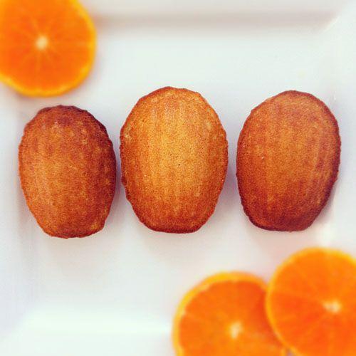{Orange Honey Madeleines}