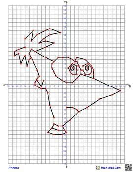 Ferb+from+Disney's+Phineas+and+Ferb+Coordinate+Graphing+Picture 4+ ...