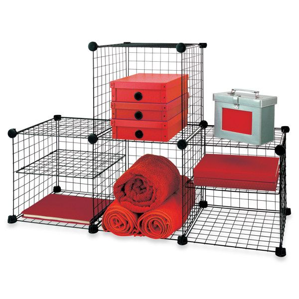 Grid Wire Modular Shelving And Storage Cubes Cube Storage