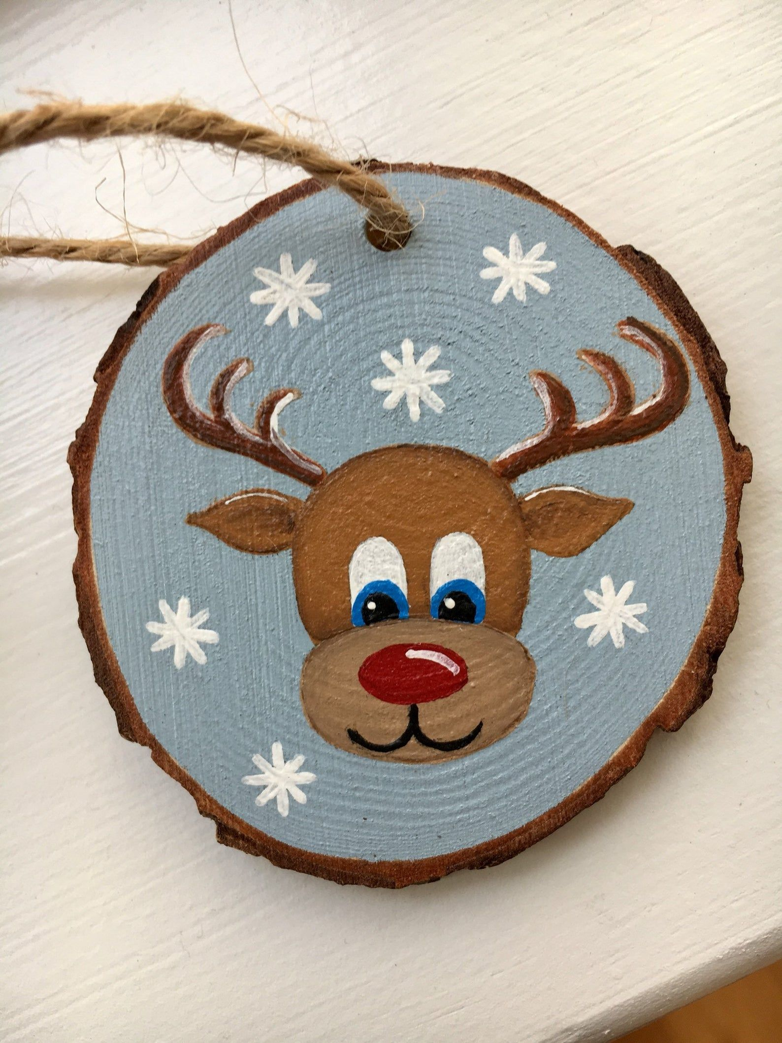 Reindeer Wood Slice Ornament Etsy Christmas Ornament Crafts Wood Christmas Ornaments Christmas Ornaments