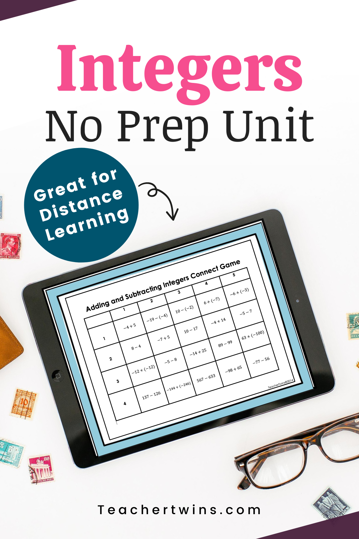 No Prep Operations With Integers Unit In