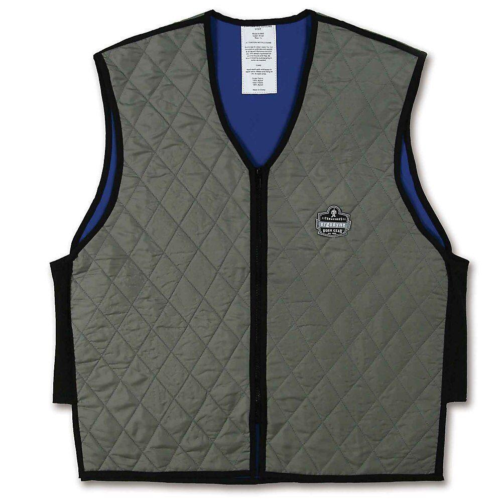 Ergodyne Chill Its Evaporative Cooling Vest Large Gray 6665