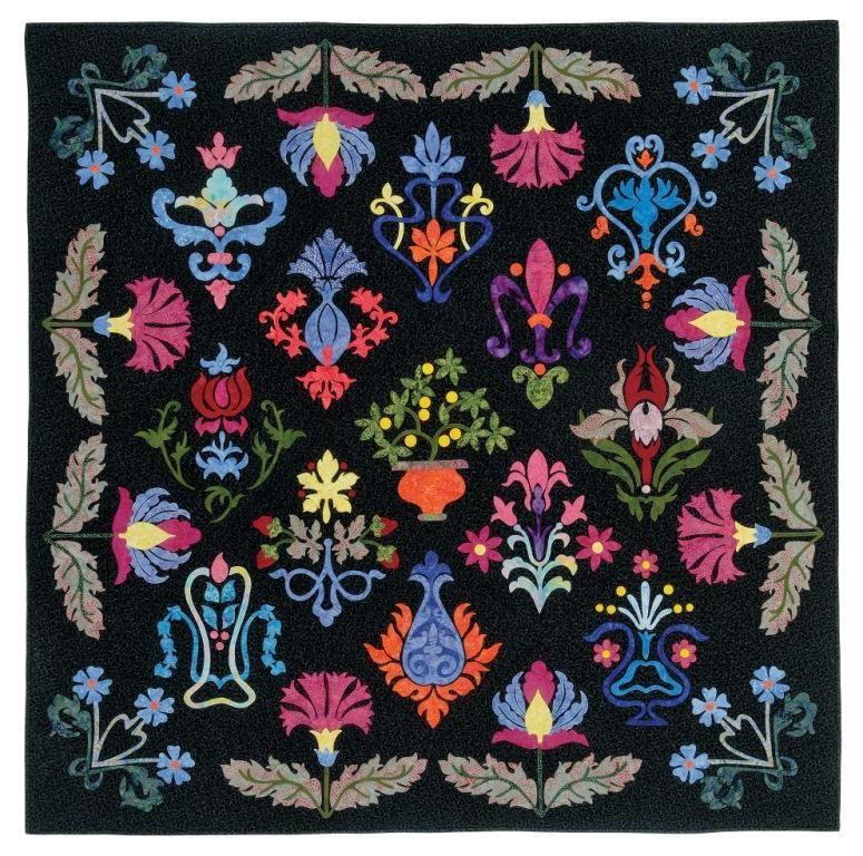 William Morris Floral Fantasy quilt using batiks. | Quilts and ...