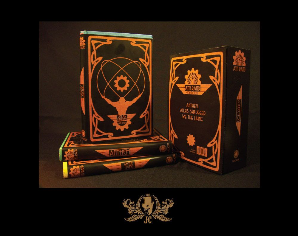 Steampunk Inspired Book Cover Amp Box Set Redesign For Ayn Rand