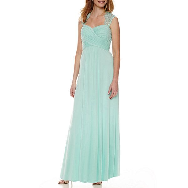 Scarlett Sleeveless Lace-Shoulder Formal Gown - JCPenney   Dresses ...