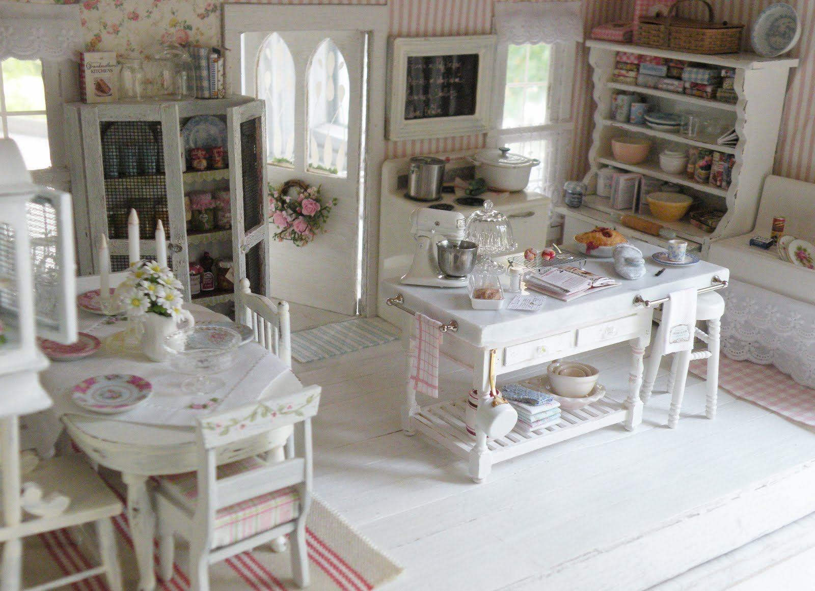 shabby chic kitchen decor oak cabinet beautiful love the marble island