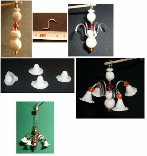 DOLL HOUSES-(workshop) - hanging lamp tutorial-made with air dry clay