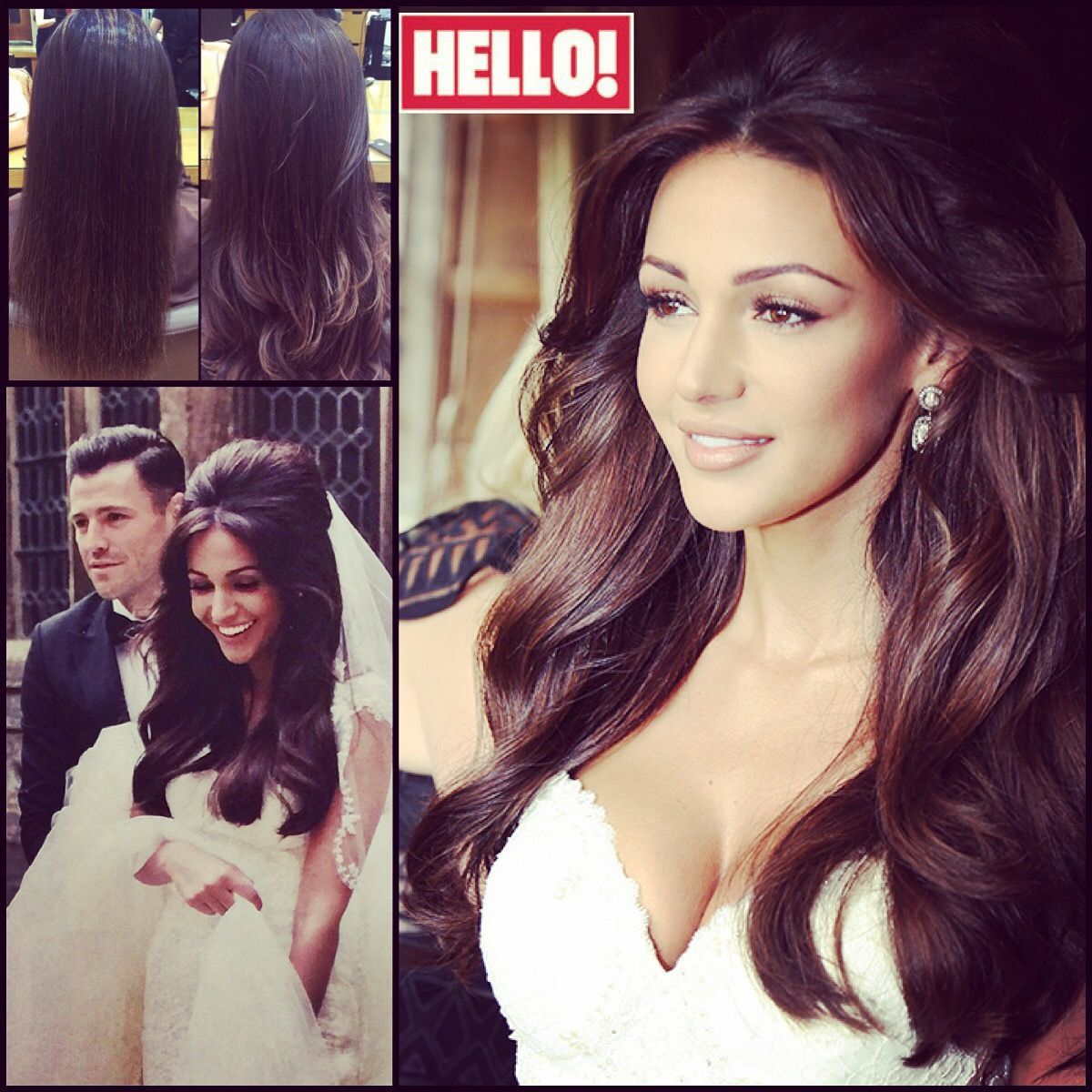 The perfect bride with the perfect hair... Michelle Keegan's stunning wedding hair enhanced with our Gold Class Hair extensions in the lead-up to her big day.