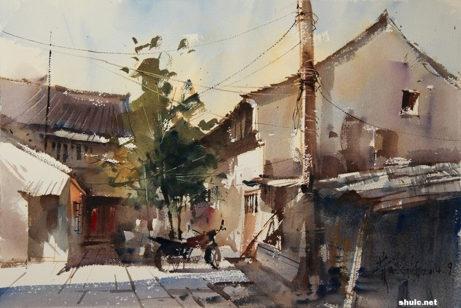 Pin By Wendy Xue On A Watercolor Building Houses Watercolor