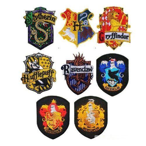 School Houses Iron-On Badges