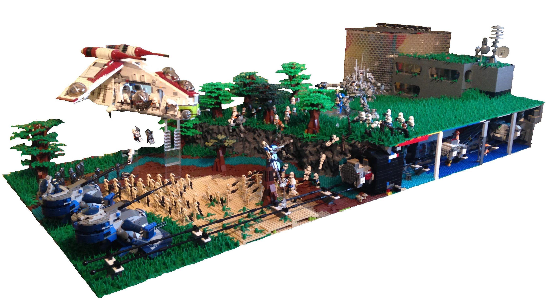 Huge lego star wars underground clone base on concordia lego starwars moc lego lego star - Lego star wars base droide ...