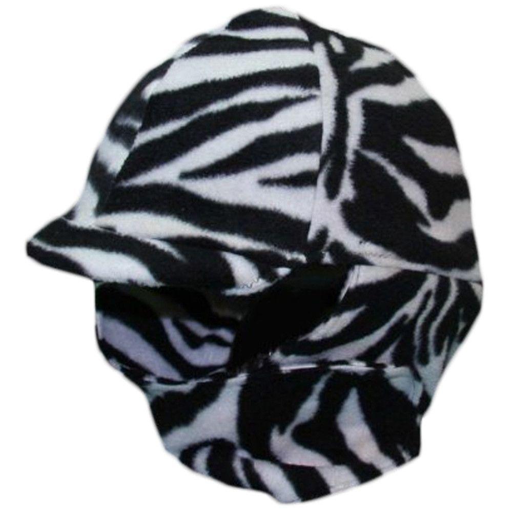 4220805c62cc8 Equestrian Zebra Print Fleece Helmet Cover