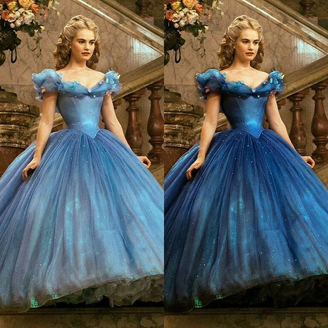 princess cinderella blue gown