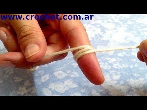 Como tejer en redondo con un anillo simple en tejido crochet tutorial paso a paso. - YouTube
