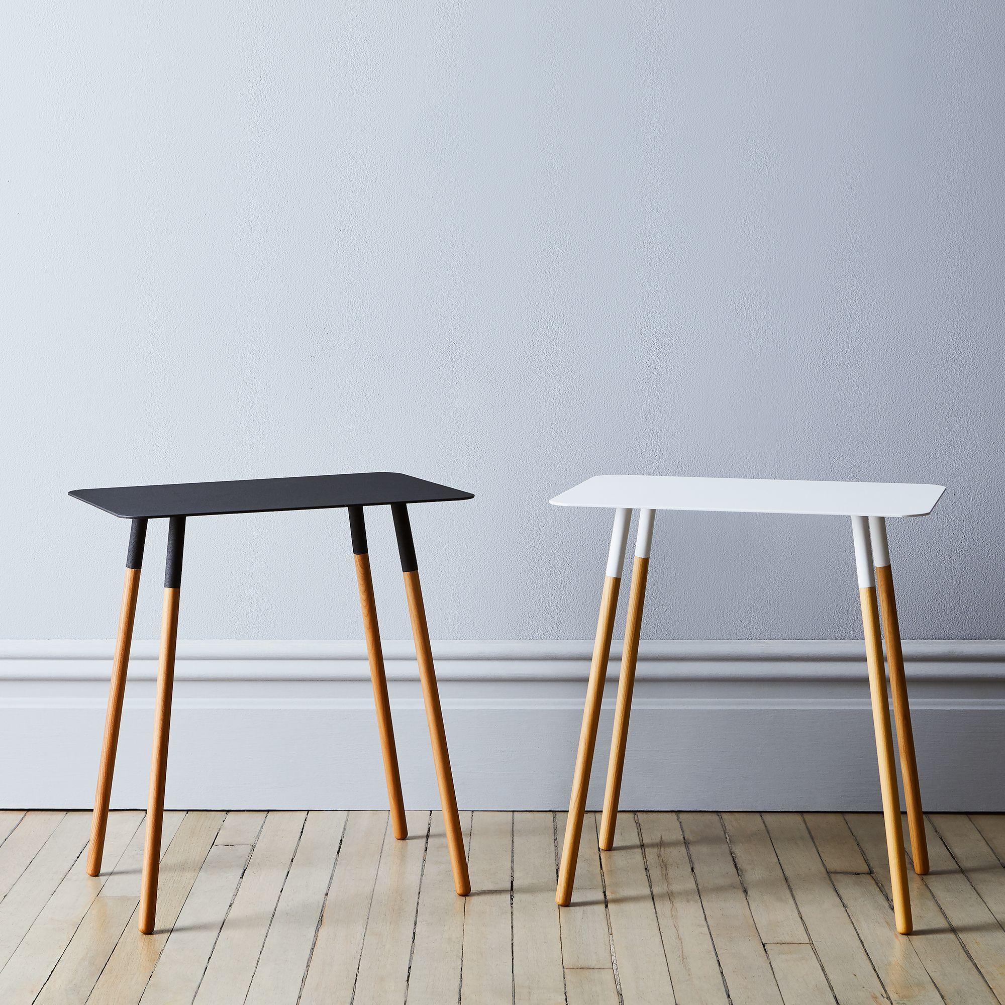 Steel Amp Wood Rectangular Side Table In 2019 Lovely Home