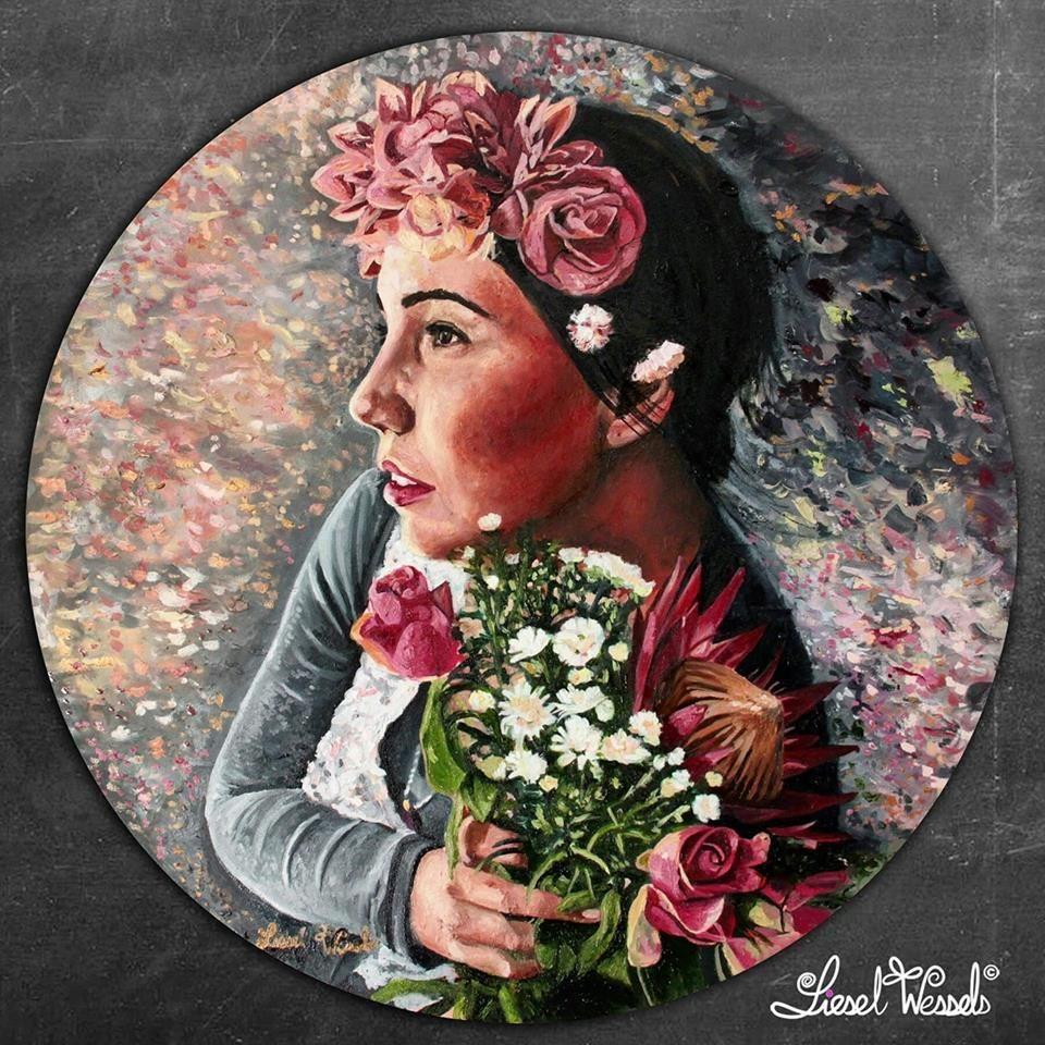 Liesel (God's garden) | Round canvas, Artwork painting ...