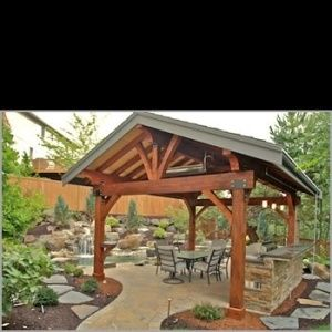 Backyard Detached Covered Patio Designs Patios
