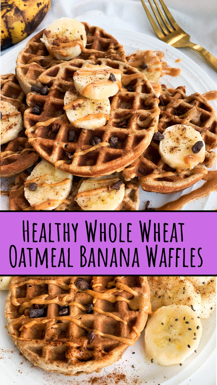 Photo of Healthy Whole Wheat Oatmeal Banana Waffles   Easy Breakfast For Two