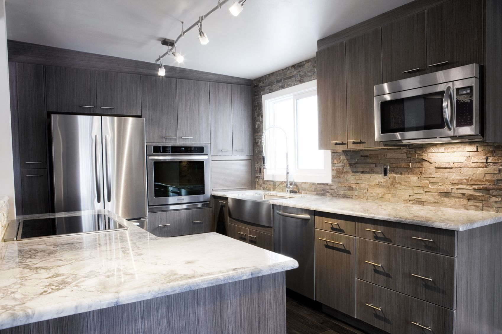 Incridible Grey Stained Birch Cabinets Grey Kitchen Walls Grey Kitchen Designs Kitchen Design