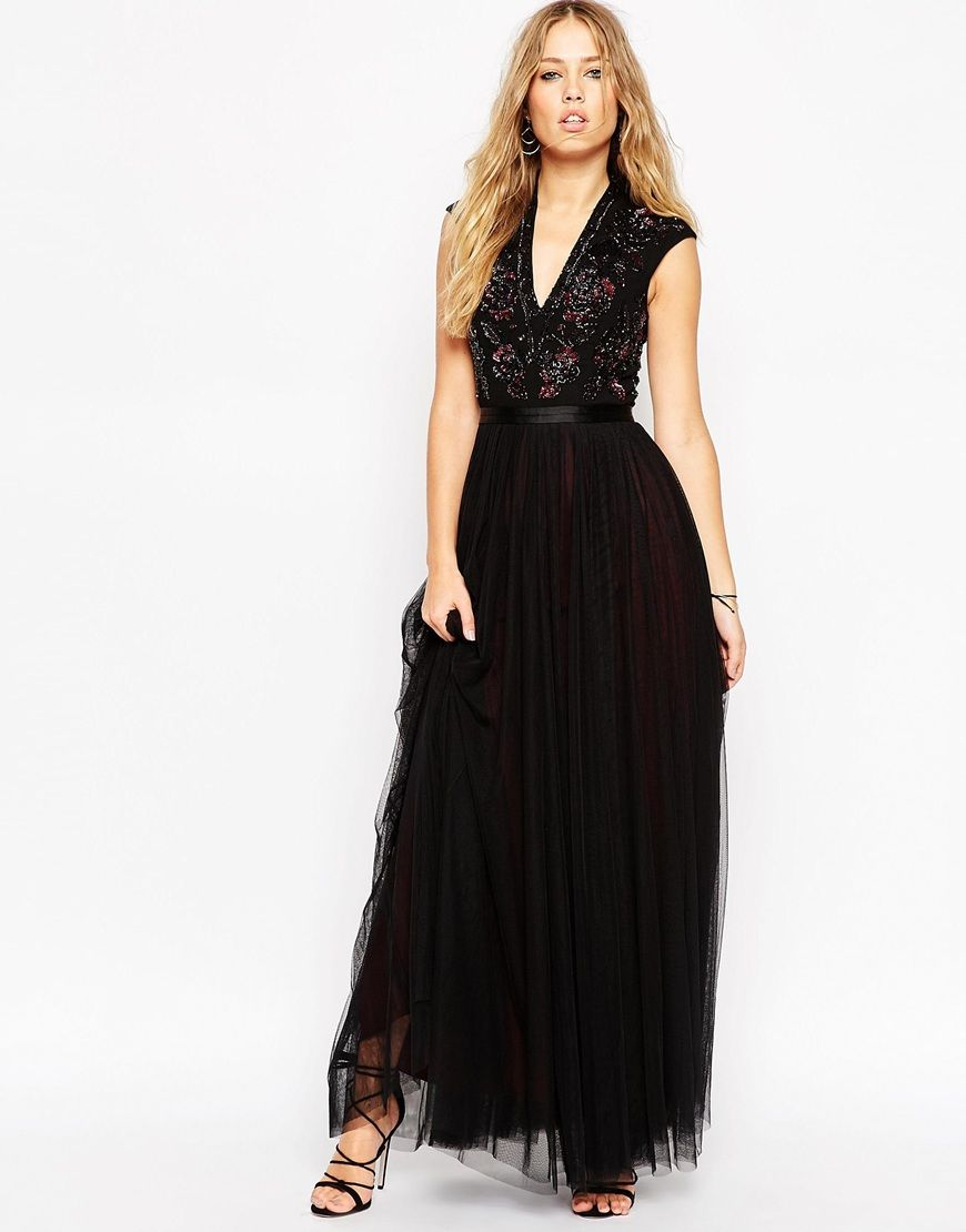 Needle u thread v neck embellished top maxi dress wardrobe