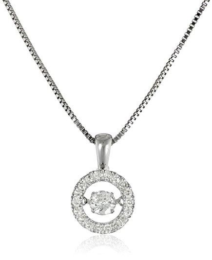 Diamond Circle Pendant Necklace (1/3cttw, I-J Color, I2-I3 Clarity)