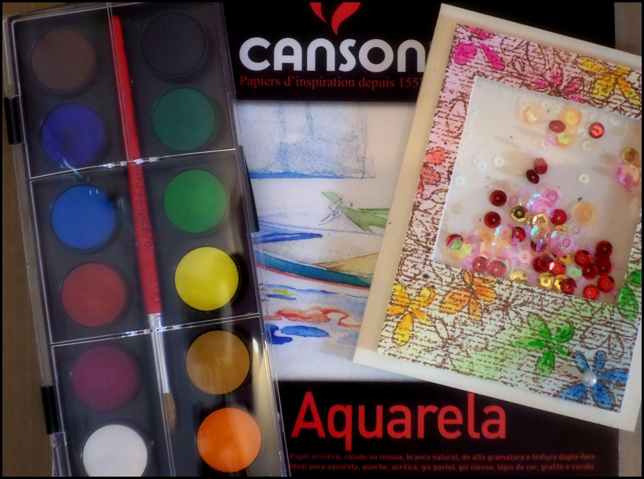 {Papelaria Icaraí} - Cartão Shaker com Aquarela