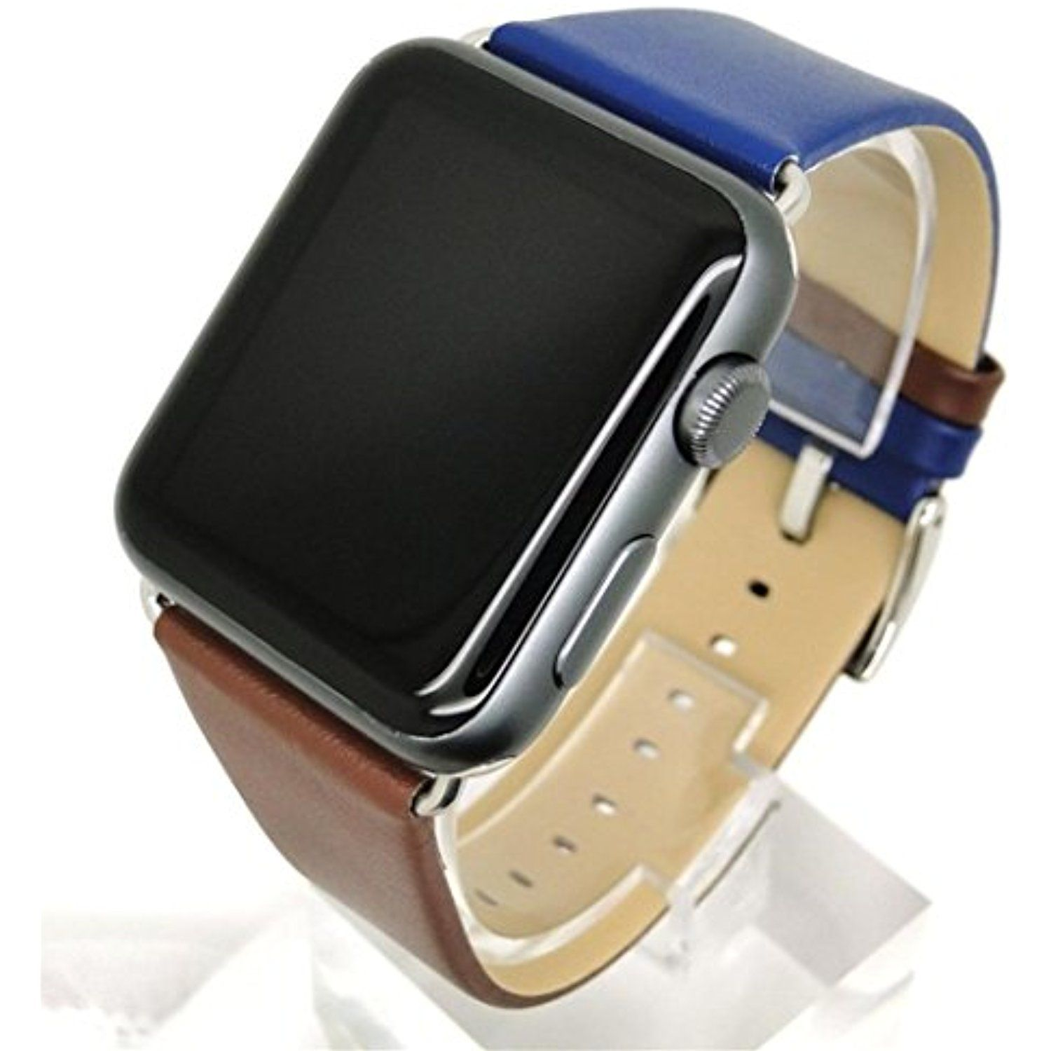 Inverlee Apple Watch Band,Leather Replacement Sports Band