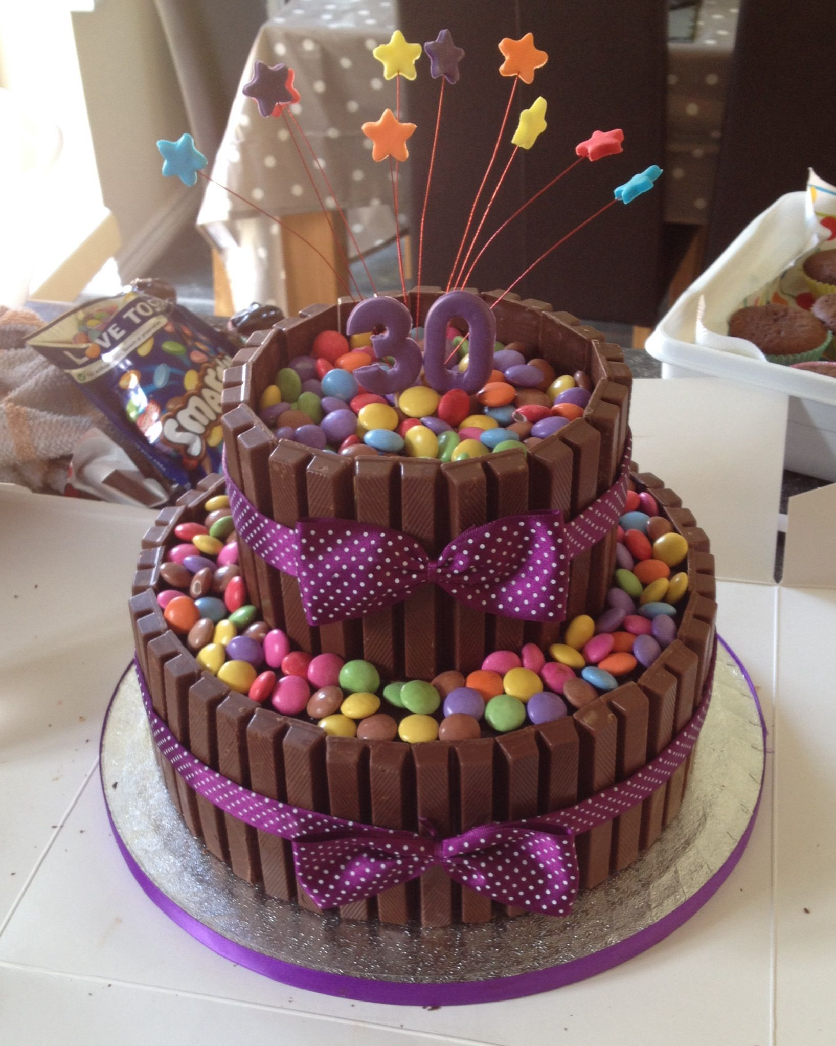 Chocolate smarties cake #30thbirthday #smartiecake | Party ...