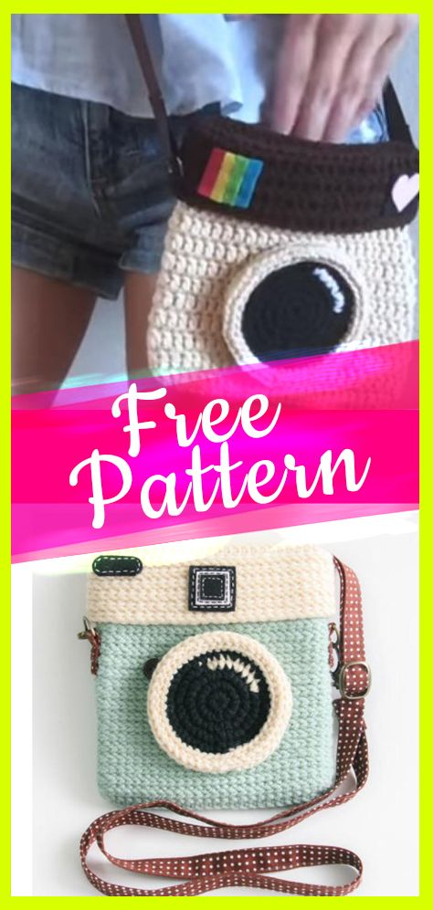 + 10 Free Crochet Patterns #camerapurse