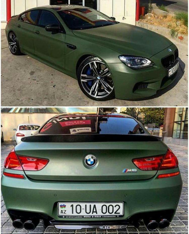 Bmw F06 M6 Gran Coupe Matte Green With Images Bmw Super