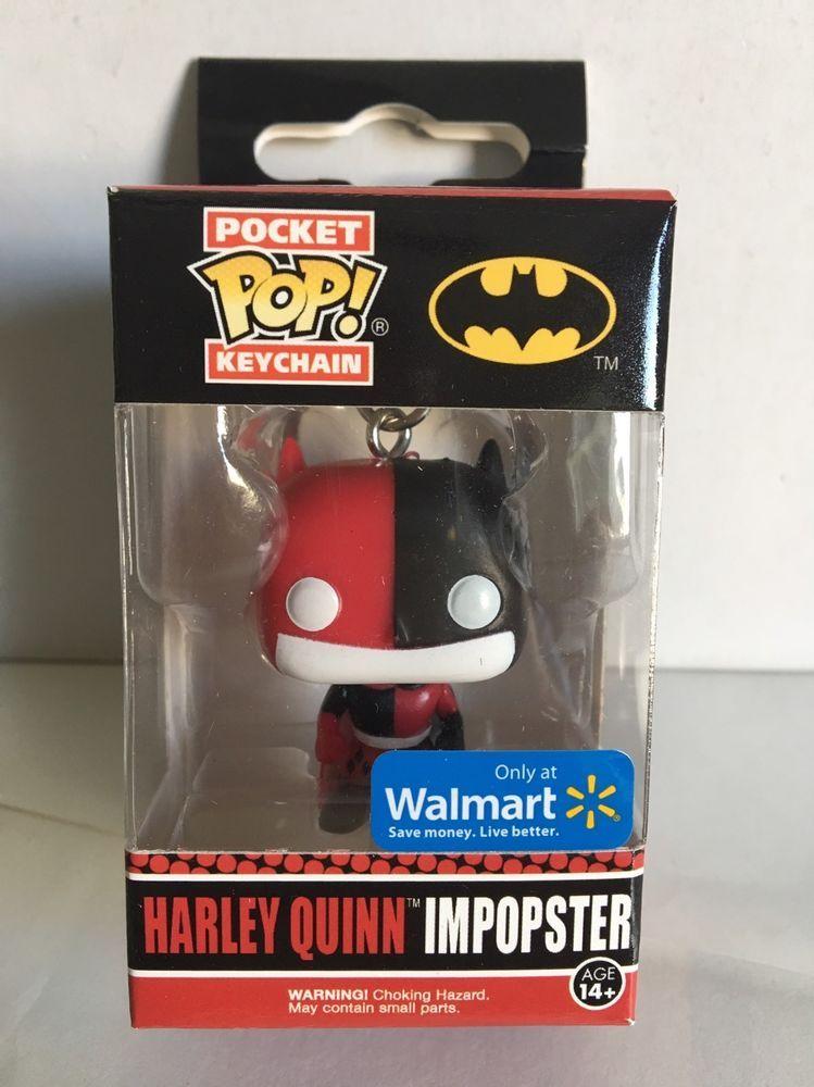 DC Harley Quinn Impopster Walmart Exclusive FUNKO Pocket Pop Keychain Vinyl