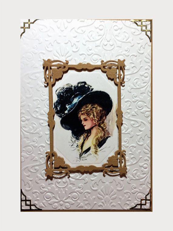 Victorian greeting card of vintage lovely lady wearing a black victorian greeting card of vintage lovely lady by myhobbycardshop m4hsunfo