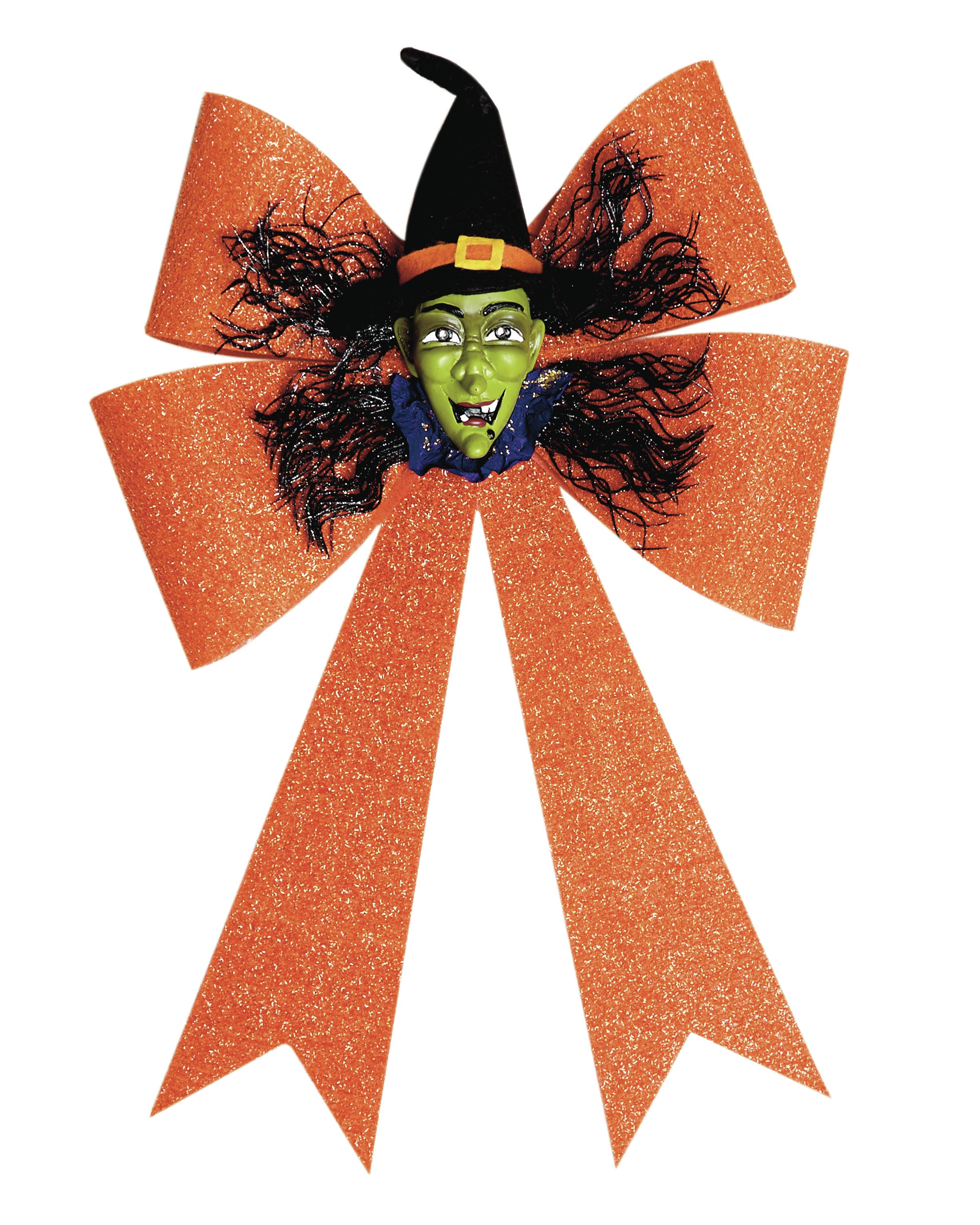 Get your guests' hearts pounding with this spine-tingling Halloween wreath. It features a distressed, shabby face that's carefully lit with a flickering light, giving it a supernatural quality. A sparkly felt bow adds colour and texture to your walls and door. Only €15 at Dunnes Stores.