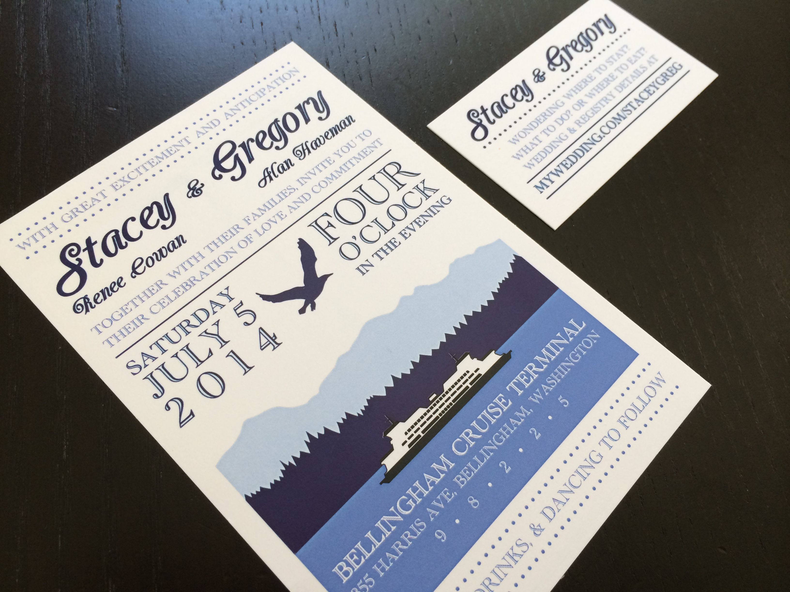 pacific northwest themed wedding invitations - Google Search ...
