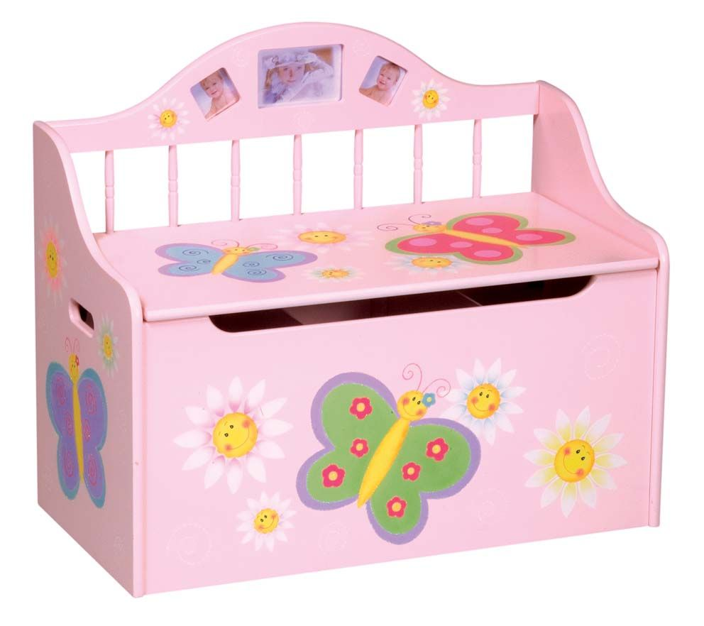 Toy Chest for Girls Faries | Wooden Toy Boxes For Girls pictures