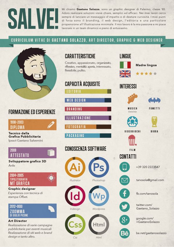 my resume by gaetano solazzo  via behance