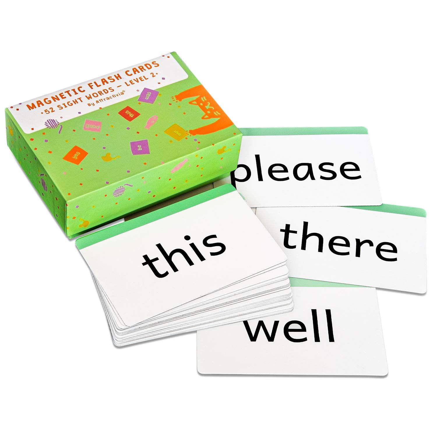 Attractivia Sight Words Magnetic Flash Cards Kindergarten