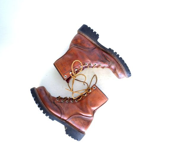 d2243970928 Red Wing Boots / Irish Setter Boots / Vintage 1970s Boots / Work ...
