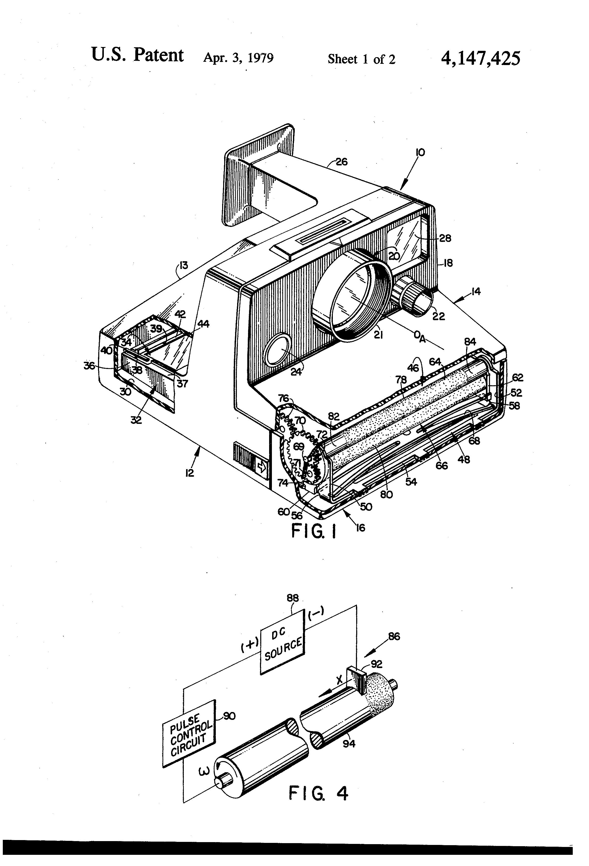 Polaroid Camera Patent