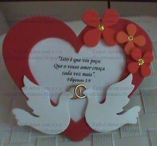 ... Dicas de Lembrancinhas de EVA para o Dia dos Namorados