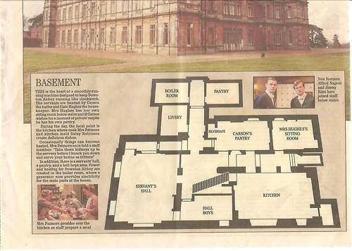 Downton Abbey Basement Floor Plan Highclere Castle Hamptonshire