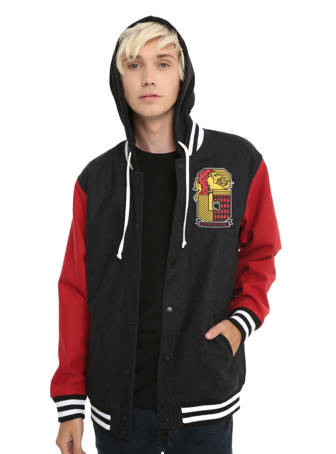 Harry Potter Gryffindor Varsity Jacket Varsity Jacket Cool Hoodies Jackets [ 1836 x 1360 Pixel ]