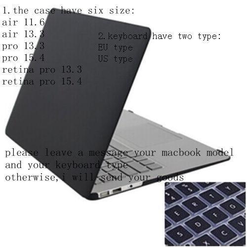 "3pcs /Matt Hard Case Crystal See Through Glossy Cover + Keyboard Skin + Screen Protection For 11"" Macbook Air Retina Pro"