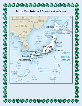 Japan Geography Maps Flag Data Assessment Map Skills Data - Japan map questions
