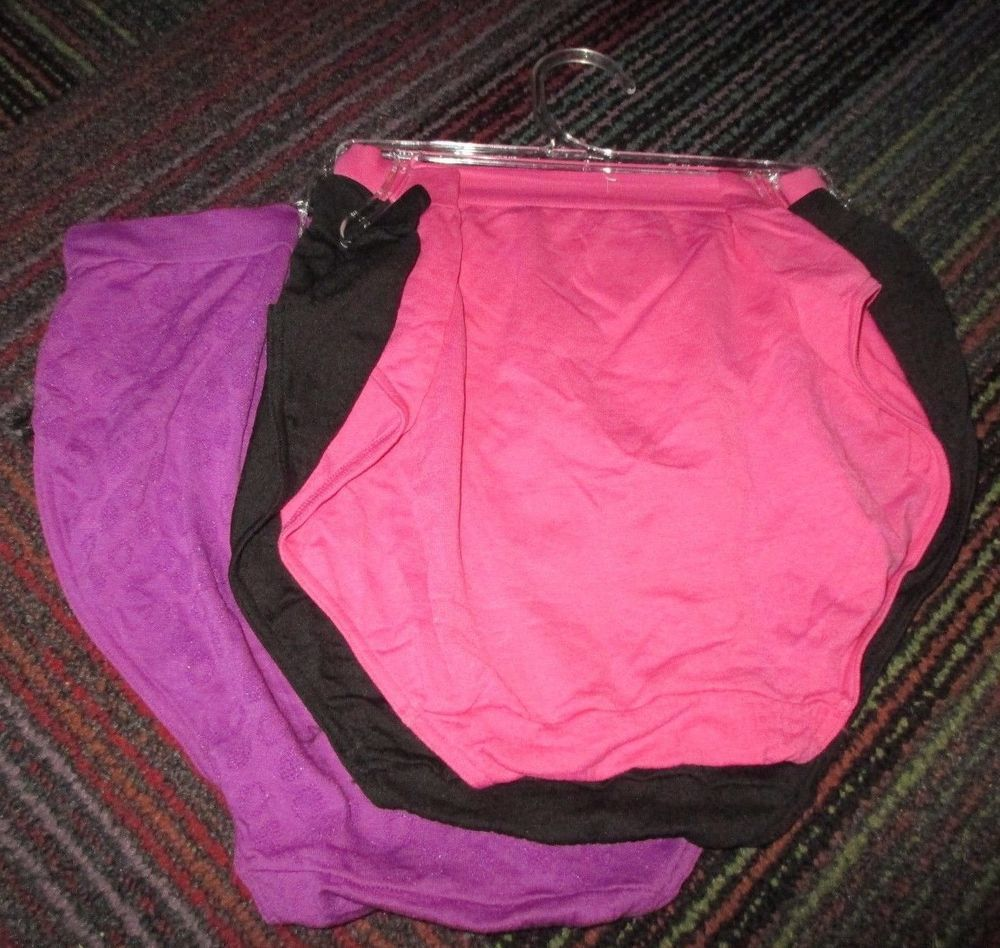 New Womens Bali 3 Pack Comfort Revolution Seamless Hipster Panty