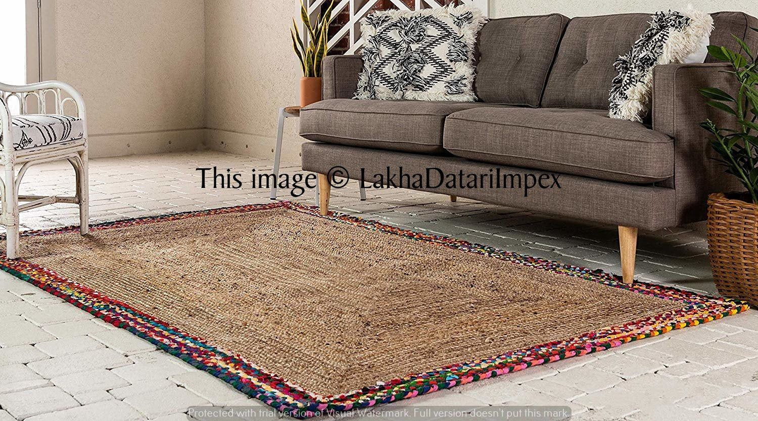 Braided Chindi Area Rug Oval Recycled Chindi Dining Room Rug