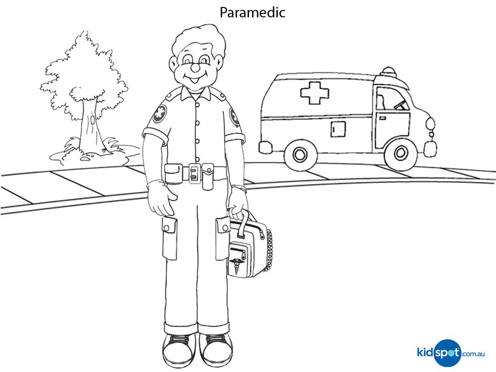 paramedic printables colouring pages - Aid Coloring Pages Kids