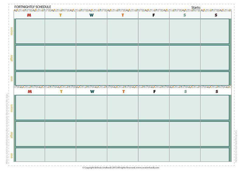 FortnightlyscheduleA  To Do    Weekly Planner Find
