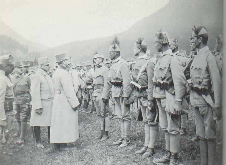 Blessed Charles Habsburg and Bosnian soldiers K und K